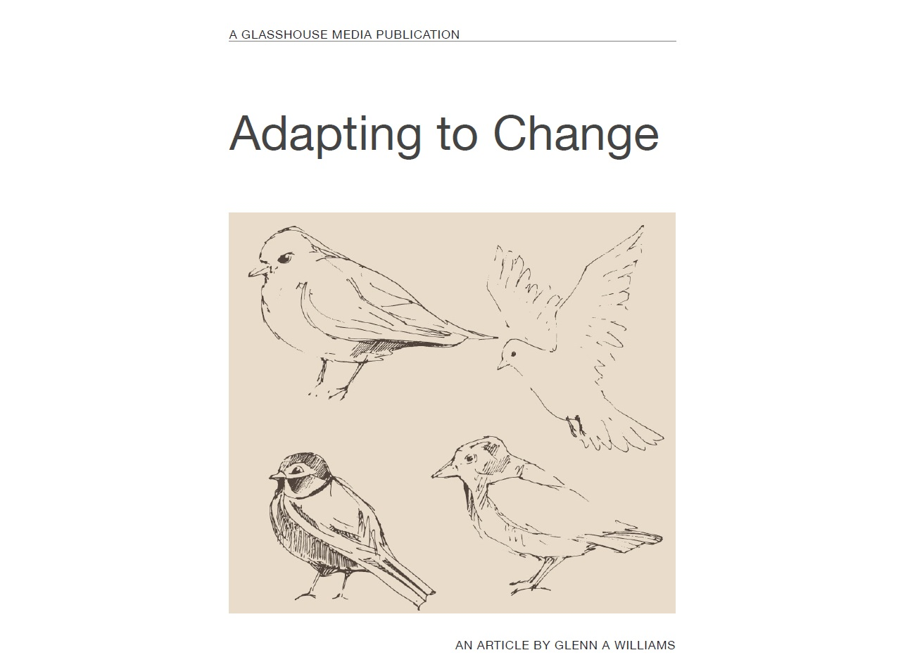 critique how well the organizaiton adapts to change Adapt to change, the organization dedicated to long-term business sustainability is offering a host of different training series for small businesses as well as.