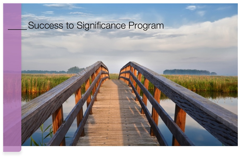 Success To Significance Program